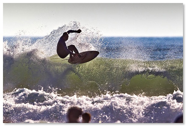 Picture of surfer in Bude